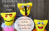 Crochet chapeau carré - Robot Instructable, Sponge Bob & WALL-E