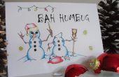 « Bah Humbug » sournois cartes de Noël des bonhommes de neige - Noël avec une attitude !