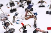 Déchets électroniques projet DIY de selfmade Sparebots