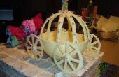 Gâteau au chocolat de transport blanc