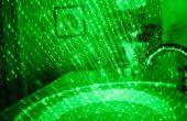 Emploi laser vert puissant
