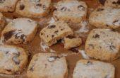 Sablés de chocolat et noix de coco foncé