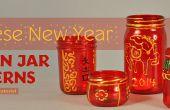 Nouvel an chinois Mason Jar lanternes