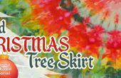 Glace teint jupe d'arbre de Noël