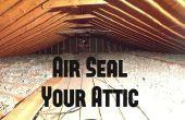 Air sceller votre grenier d'économies d'énergie
