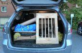 Caisse de voiture en bois pour chiens