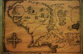 (Carte de la terre du milieu) à bois