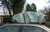 Attacher les charges pour voiture toits par faire des ancrages temporaires