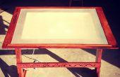 Table à dessin w / visionneuse intégrée d'inspiration antique