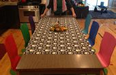 Milieu-centery faire over sur des vieilles chaises de cuisine