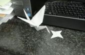 Simple feuille Origami grue et star Jet