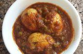 Oeuf en tomate Curry (Anda Masala)