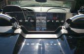 Sand Blast Patterns sur Plexiglas - déflecteur de vent pour voiture Convertible