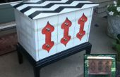 Corbeille à Treasure, utilisant spraypaint pour trottoir-trouvez meubles de finition