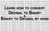 Conversion de décimal en binaire et Vice Versa