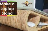 Support de portable en bois qui a l'air élégant et moderne