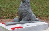 Stone Carving : Réparation de « Héros oubliés », pour le jour du souvenir