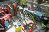 Vélo générateur Patio meubles fabriqués à partir de matériaux recyclés w / tension le système de charge régulée de batterie