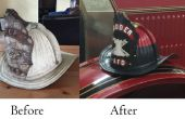 Antique Fire Helmet restauration