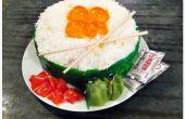 Comment faire un gâteau d'anniversaire de Sushi Ikura