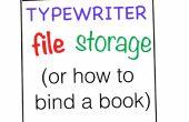Stockage de fichiers de machine à écrire (comment lier un livre)