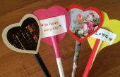 Valentines faciles fabriqués à partir de pages de magazines, de carton et de papier