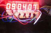 Hauteur 2cm 7 Segments 6 chiffres AVR horloge avec thermomètre à 4 chiffres