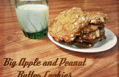 Grosse pomme et biscuits au beurre d'arachide