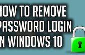 Comment faire pour désactiver le mot de passe connexion dans Windows 10