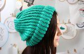Tricoter un bonnet ample sur un métier à tisser rond