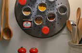 Contenants à épices et support DIY épices magnétiques