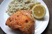 Cuisses de poulet citron ail