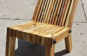 Inclinée de chaise en bois palette