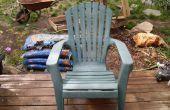 Insuffler une nouvelle vie (renouveler) dans une oxydé PVC chaise prête à l'enfouissement de la tha.