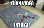 Transformer une vidéo en GIF et contrôle c'est vitesse