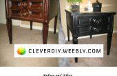 Table de bout de bois haut-pédalé DIY