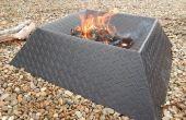 Comment faire une fosse de feu Cool et Compact de la moitié d'une feuille d'acier