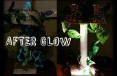 La lampe Afterglow (papier mâché et matériaux recyclés)