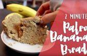 2 minute de pain aux bananes de Paleo
