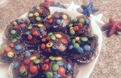 """Quatrième de juillet """"brownie"""" Cupcakes avec M & M garniture"""