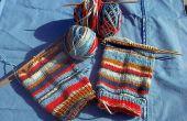 Lion Brand Magic rayures tricotées chaussettes