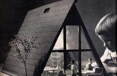 Vintage a-frame Dollhouse (rétractable)