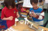 Rube Goldberg marbre inspiré Roll - 1er Grade bricolage - semaine 8