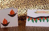 DIY : Comment faire des cartes de souhaits Diwali | Idées cadeaux bricolage facile