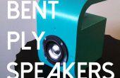 Pliés contreplaqué haut-parleurs