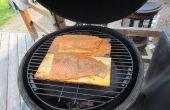 Sirop d'érable - saumon de planche de cèdre - Big Green Egg/Kamado Grill
