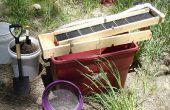 Une boîte de recirculation écluse pour la prospection de l'or