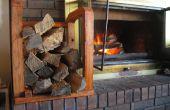 Rack bois intérieure faite à l'aide de bois brut