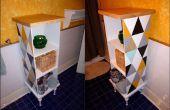 Armoire funky fabriqué à partir d'éléments réutilisés/trouvé