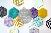 Hexagone piecing tutoriel